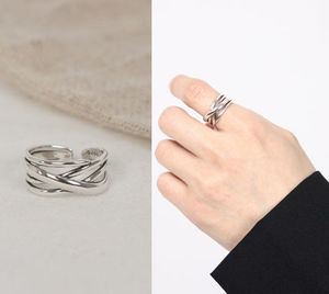 SCENERITY Twisted Silver Ring