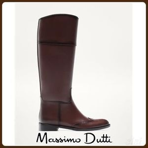 日本未入荷♪MassimoDutti♪BROWN BROGUE BOOTS