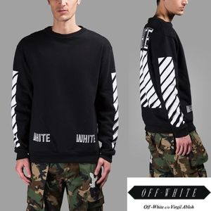 注目!OFFWHITE/WHITE STRIPES ON THE SLEEVES スウェット