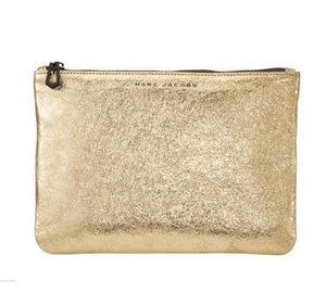★限定品【NM + TARGET + MARC JACOBS】METALLIC ZIP CLUTCH BAG