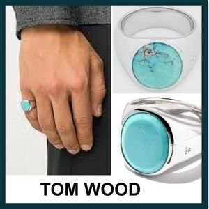 ★ TOM WOOD ★OVAL  TURQUOISE ターコイズ リング♪