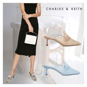 Charles&Keith★Mesh Loafer Mules★ミュール