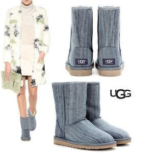 UGG 最新作即発!CLASSIC SHORT  WASHED DENIM ブーツ