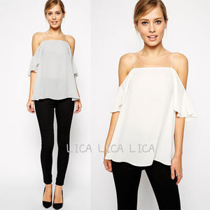 送料無料・国内発送ASOS Cold Shoulder Cami Top