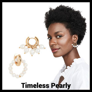 【Timeless Pearly】フープピアス パール