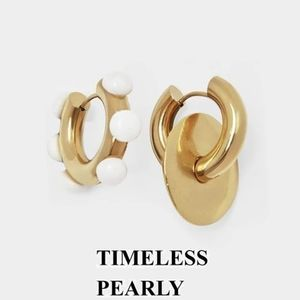 【TIMELESS PEARLY】 ミスマッチピアス パール ゴールド