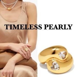 TIMELESS PEARLY 送料無料 大人気 ゴールドプレーテッドリング