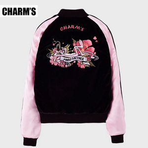 【CHARM'SXPINKPANTHER】正規品★韓国発★スカジャン (追跡配送)