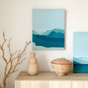 【minimo】Lake in Itay AorB CANVAS FRAME アート(40×50cm)