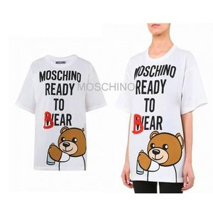 15AW★Moschino Ready to Bear コットンTシャツ 関税/送込