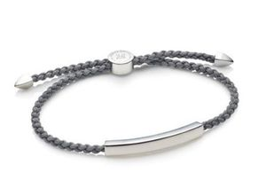 【Justin Bieber愛用】Linear Friendship Bracelet in SteelGrey