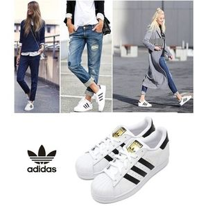 ★adidas.正規品 SUPERSTAR Foundation White/Black-共用★