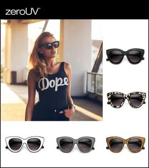 zeroUV*Over Size Cat Eye サングラス(全5色)