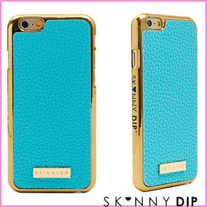 SKINNYDIP☆iPhone6 iPhone5s/5 PLUS ケース ターコイズ レザー