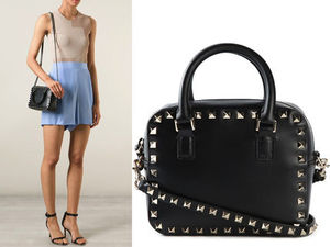 15SS V093 VALENTINO 'Rockstud' tube handle shoulder bag