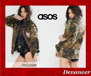 関送込 【ASOS】 Milk It Vintage Shirt Jacket In Camo With