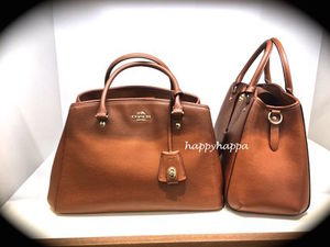 【Coach】大人気!新色!SMALL MARGOT CARRYALL☆サドル