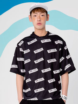 [DIM E CRES/DHL安心発送]男女共用LOGO PATTERN T-SHIRT (BLACK)