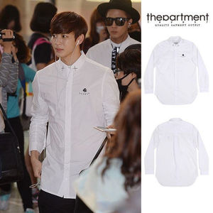 大人気 ★thepartment★ DICE LONG SHIRTS 【WHITE】