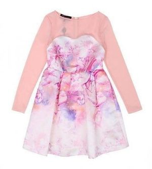 SRETSIS★NEW US2★CLOUDY SWEETNESS SUNSET PINK DRESS★可愛い