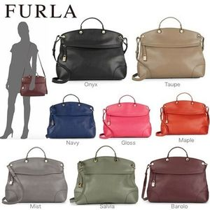FURLA Nikole Piper Large Saffiano Leather Tote Bag 2Way 7色