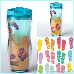US限定 NEW! STARBUCKS☆Summer Sun&Sandal☆タンブラー/送関