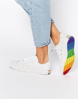 Chuck Taylor All Star Pride Low White LGTB Rainbow EMS