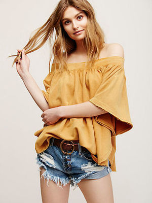 ☆NEW☆ Free People Kiss Me Off The Shoulder Top