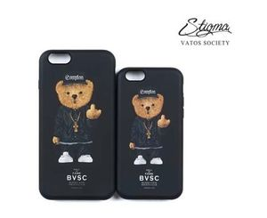 STIGMA★PHONE CASE COMPTON BEAR BLACK★iphone6s/6s plus