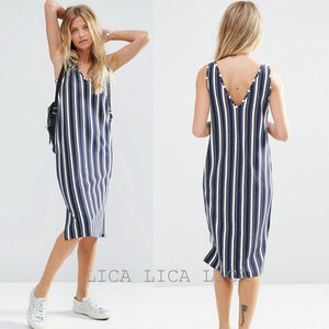送料無料・国内発送ASOS Stripe Column Midi Dress