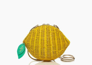 即発★【katespade】ケイトスペード☆VITA RIVA WICKER LEMON