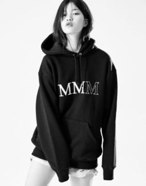 (87mm) ☆☆ SIMPLY MMM LOGO HOOD (BLACK) ☆☆
