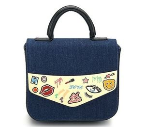 [high cheeks] Pop Cartoon Sketch Bag_Denim