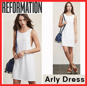 大人気!激カワ!新作!REFORMATION!arly dress-White!