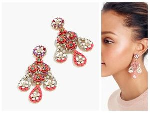 セールJ Crew-FLORAL CHANDELIER EARRINGS 関税・送料込