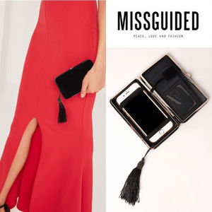 【国内発送】Missguided suedette tassle phone purse★New♪♪