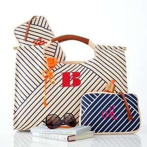 【国内発送】Mark and Graham☆Striped Canvas Tote