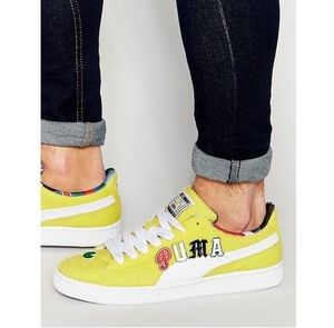 Puma x Dee and Ricky Basket Trainers In Yellow