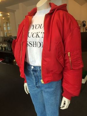【VETEMENTS】新作16AW BOMBER JACKET (RED)