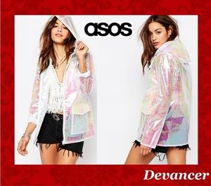 ◆◆関送込 【ASOS】 Missguided Holographic Raincoat◆◆