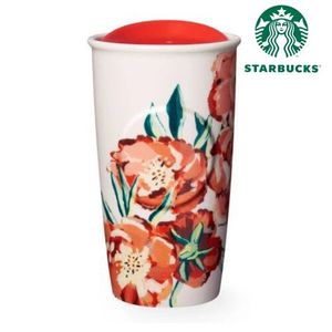 STARBUCKS 北米限定タンブラーFloral Double Wall Traveler