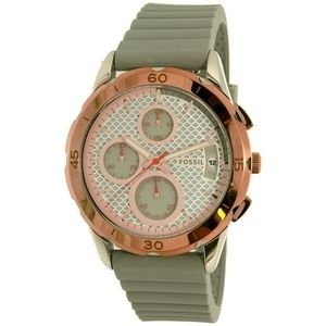 ★Fossil★  Modern Pursuit ES4042 Gold Rubber腕時計 関税込★