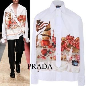 RUNWAY 16-17AW PRADA shirt by Christophe Chemin