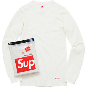 【送料・関税無料】Supreme Hanes Thermal Crew 1 Pack