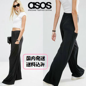 ASOS ☆Slouch Wide Leg Trousers with Drop Pockets