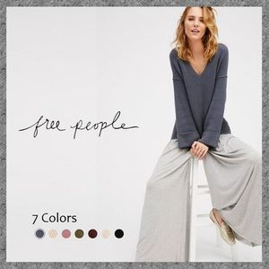 華奢見せニット◆Free People◆La Brea V-neck Sweater◆送料込