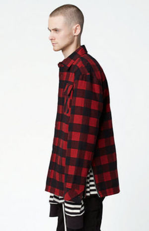 国内即日発送SM16AW新作FOG FEAR OF GOD Plaid Flannel Shacket[