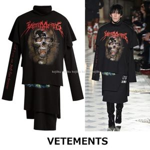 ▽国内発送・関税込▽VETEMENTS▽Layered T-shirts dress