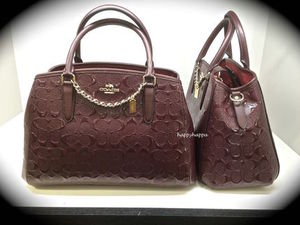 【Coach】2016年秋!進化系SMALL MARGOT/2way☆Oxblood