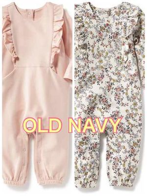 Old navy  長袖ロンパース 2色